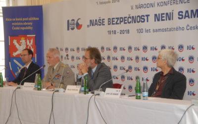 Naše bezpečnost není samozřejmost: V. národní konference