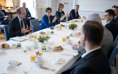 Breakfast with German Minister of Defense